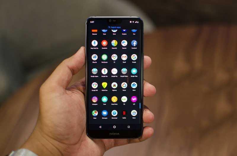 ОС и ПО в Nokia 7.1