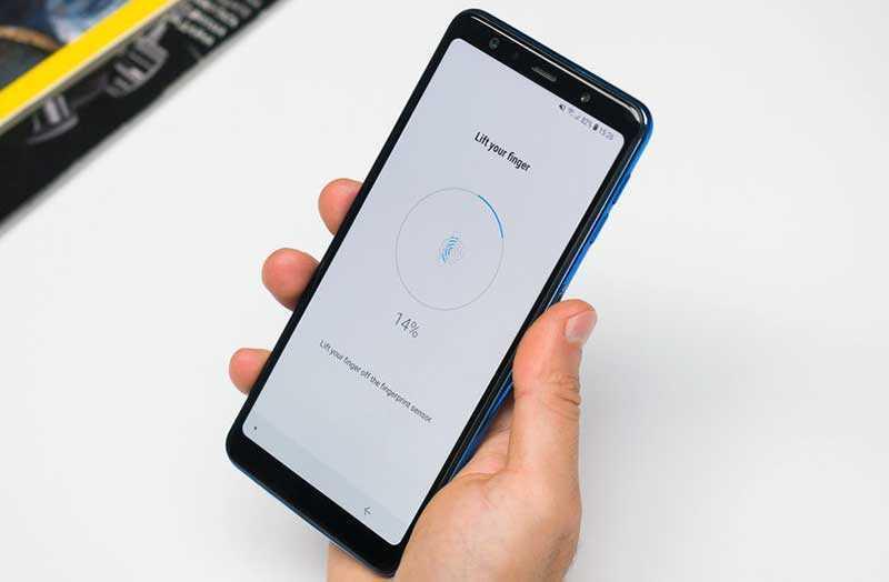 Samsung Galaxy A7 2018 сканер
