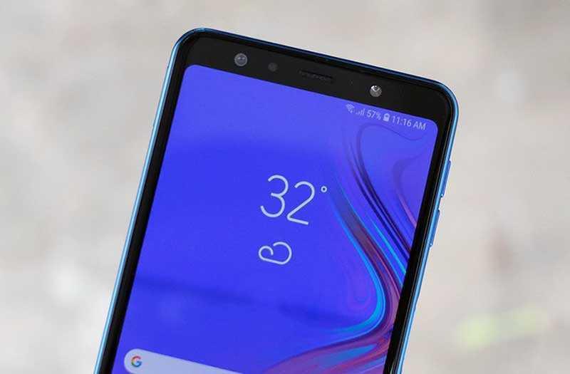 Samsung Galaxy A7 2018 сканер лица