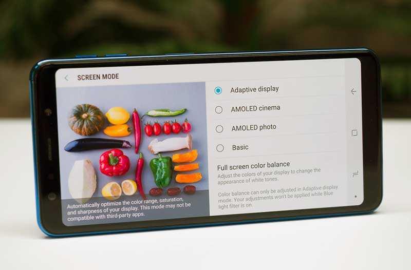 Samsung Galaxy A7 2018 экран