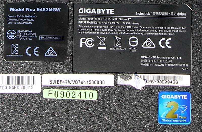 Ноутбук Gigabyte Sabre 17