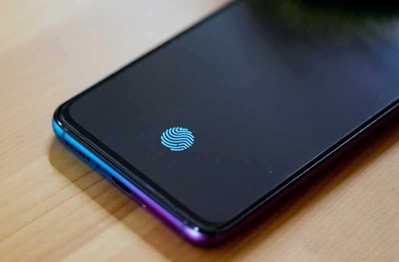 Oppo R17 Pro сканер отпечатка в экране