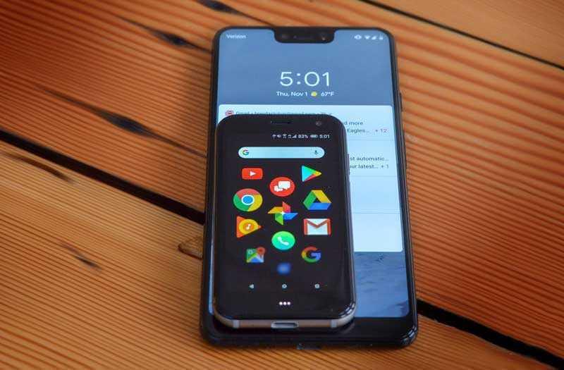 Palm Phone 2018 с iPhone