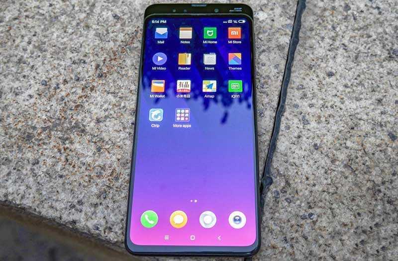 Xiaomi Mi Mix 3 дисплей
