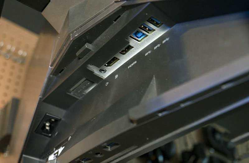 Alienware AW3418DW порты