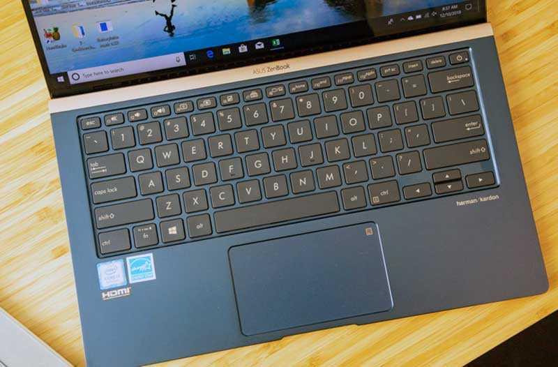 Asus ZenBook 14 UX433 клавиатура