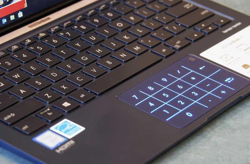 Asus ZenBook 14 UX433 тачпад
