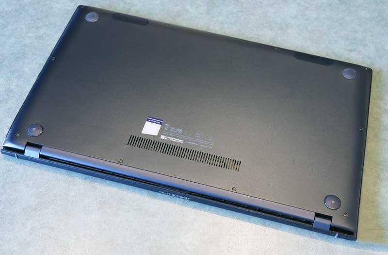 Asus ZenBook 15 UX533 сзади