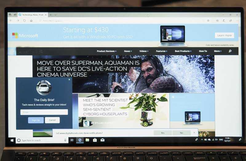 Asus ZenBook 15 UX533 экран