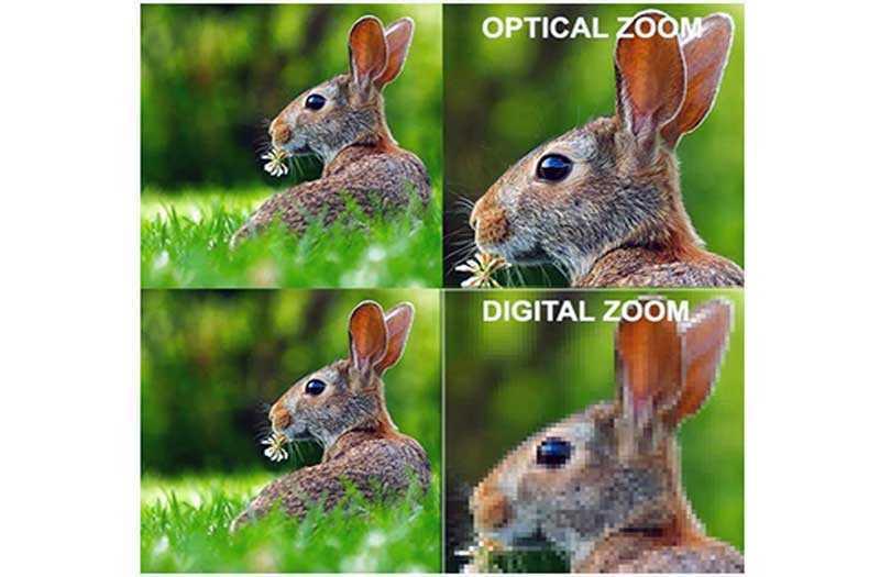 Цифровой и оптический зум