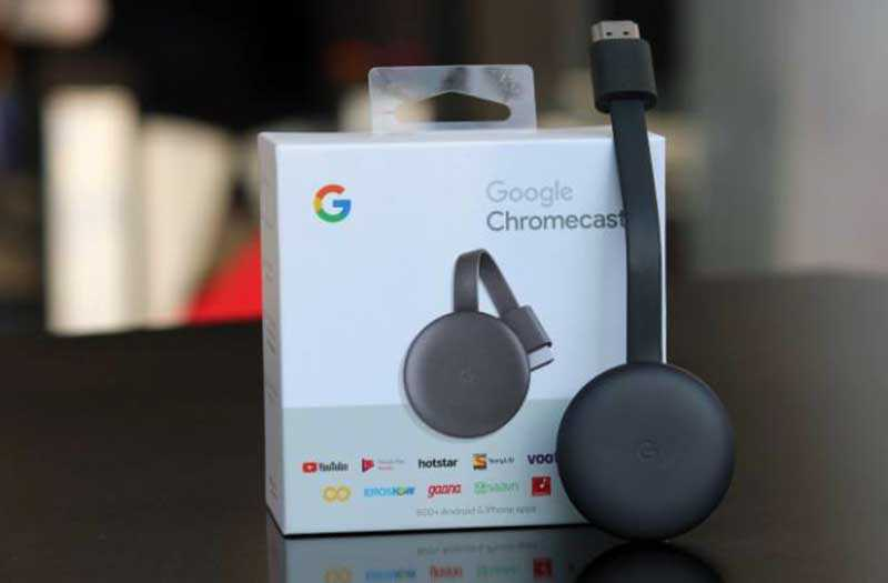Дизайн Google Chromecast 2018 из коробки