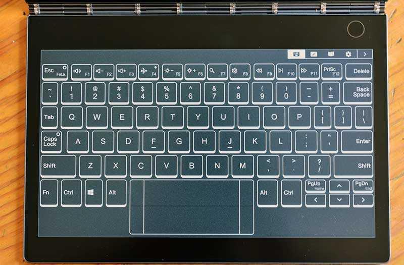 Lenovo Yoga Book C930 сенсорная клавиатура