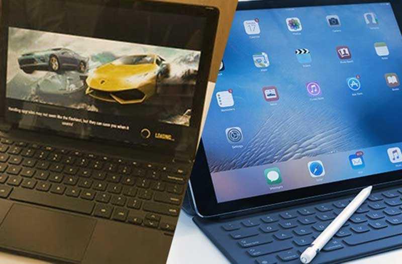 Сравнение Google Pixel Slate и Apple iPad Pro