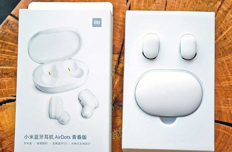 Xiaomi Mi AirDots из коробки