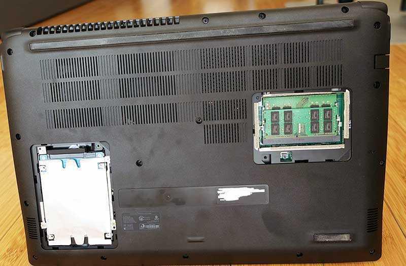 Acer Aspire 7 A715-72G отсеки