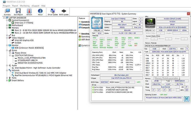 Acer Aspire 7 A715-72G тест
