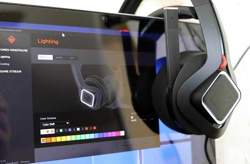 HP OMEN Mindframe звук в играх