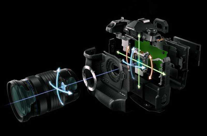 Olympus OM-D E-M1X система стабилизации