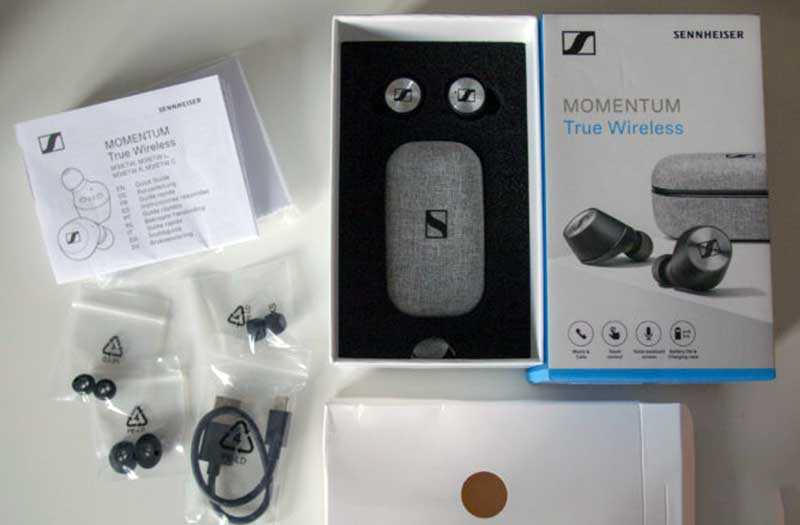 Sennheiser Momentum True Wireless из коробки