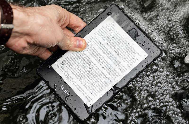 Amazon Kindle Paperwhite 2018 защита от воды