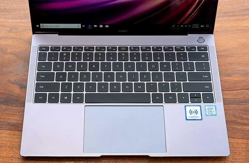 Huawei MateBook X Pro 2019 клавиатура и трекпад