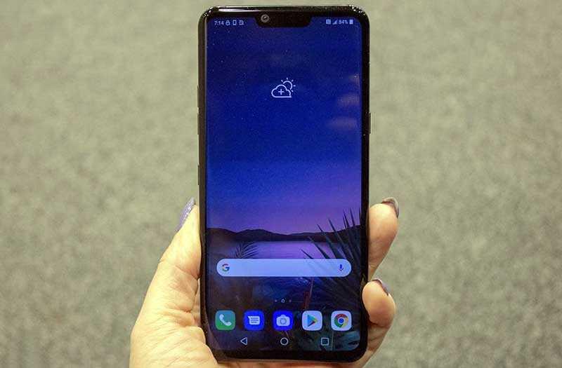 LG G8 ThinQ экран