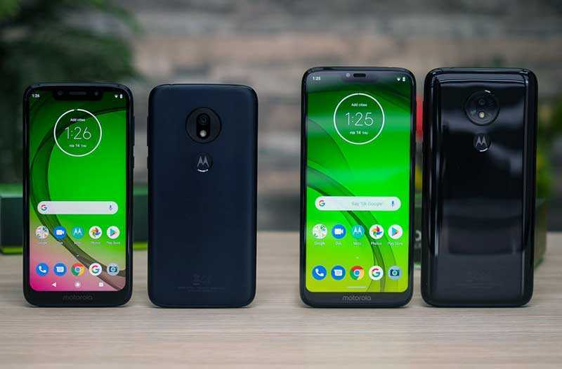 Сравнение Motorola Moto G7, G7 Plus, G7 Power и G7 Play