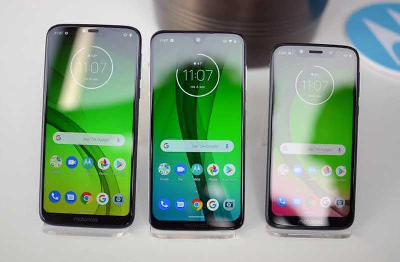 Moto G7 экраны