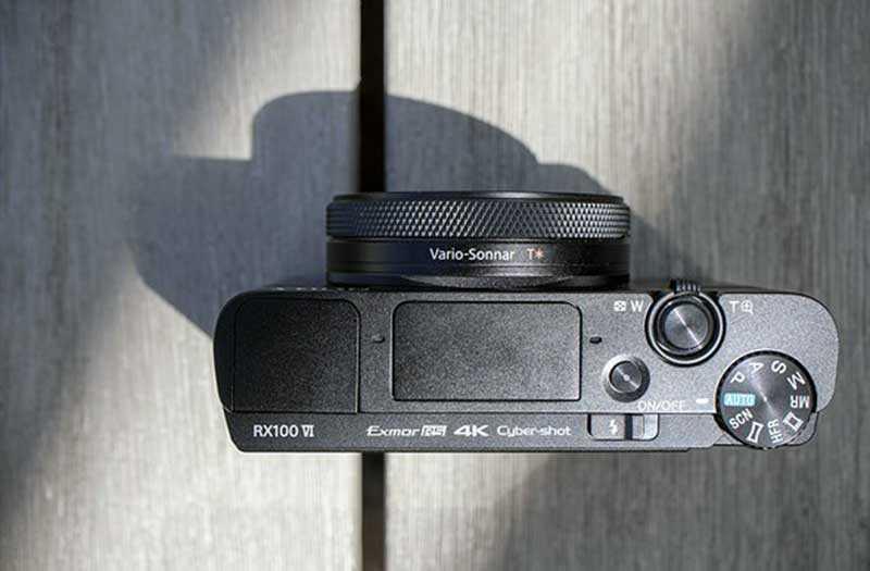 Sony RX100 VI сверху