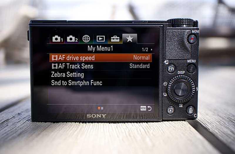 Sony RX100 VI управление