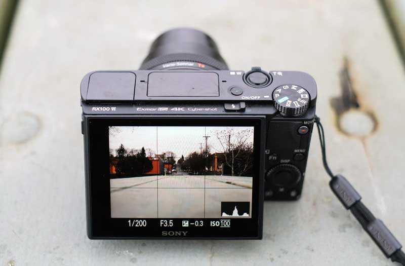 Sony RX100 VI экран