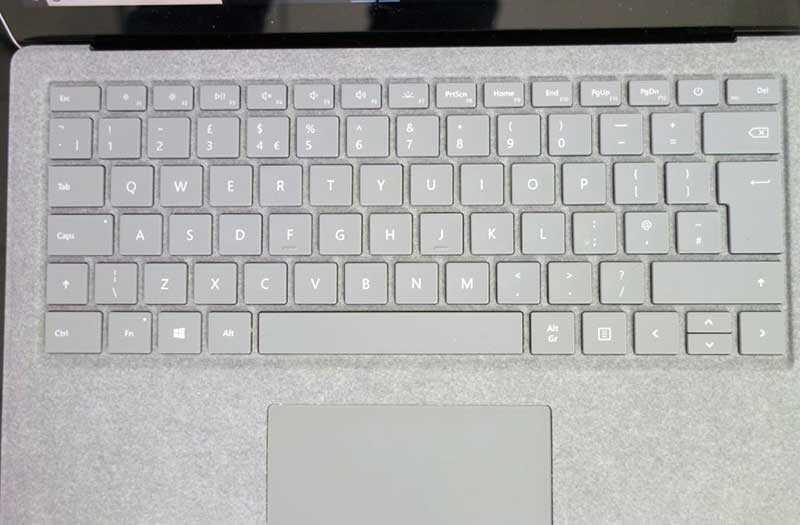 Microsoft Surface Laptop 2 клавиатура