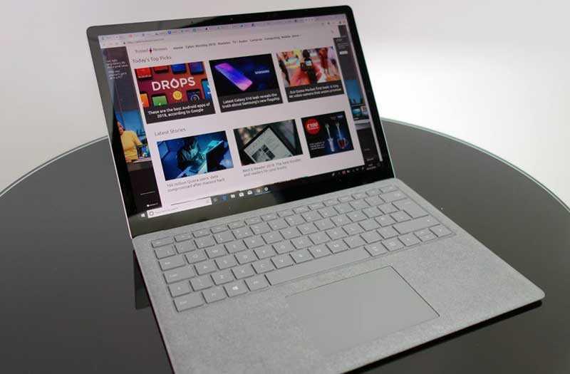 Microsoft Surface Laptop 2 экран