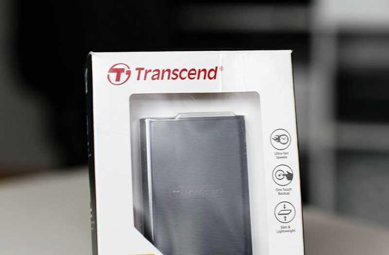 Transcend ESD220C и Transcend RDP9 из коробки