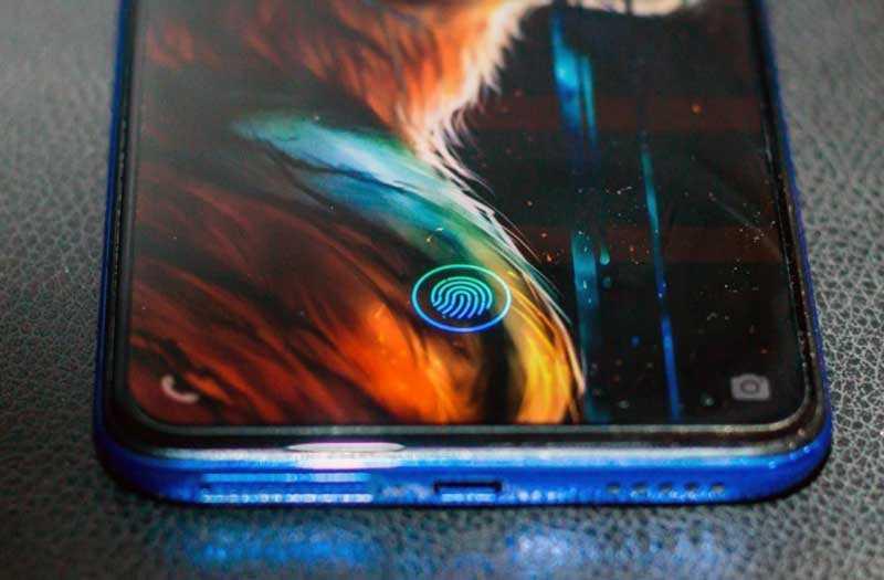 Vivo V15 Pro сканер отпечатка