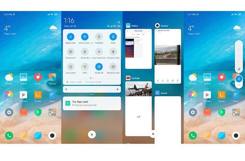 Xiaomi Redmi Note 7 интерфейс