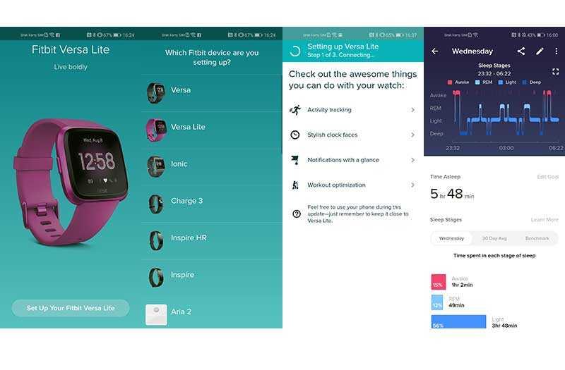 Fitbit Versa Lite Edition приложение