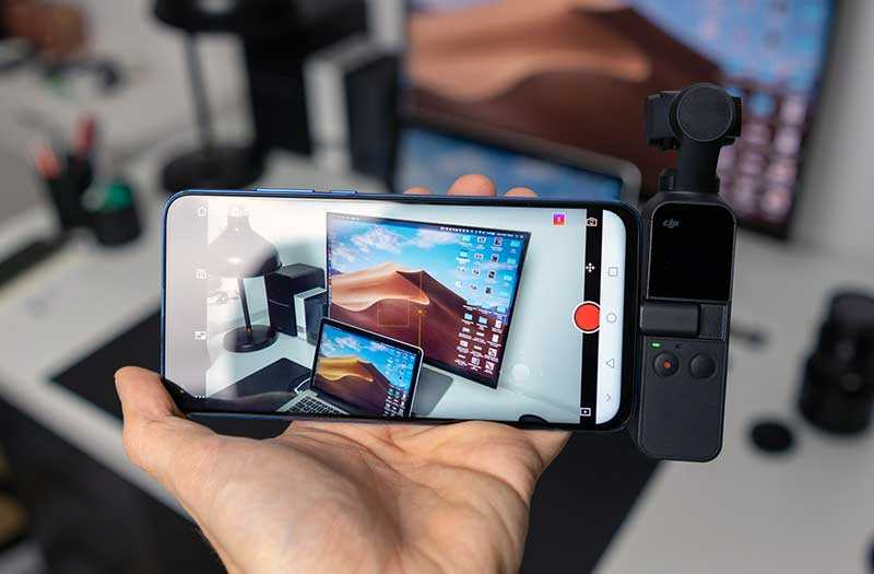 DJI Osmo Pocket в использовании