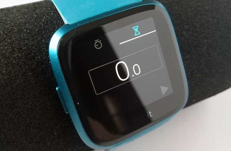 Fitbit Versa Lite Edition секундомер