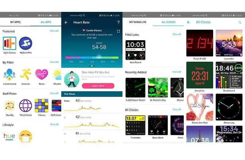 Fitbit Versa Lite Edition настройка и персонализация