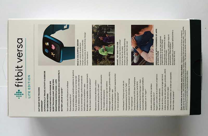 Характеристики Fitbit Versa Lite Edition