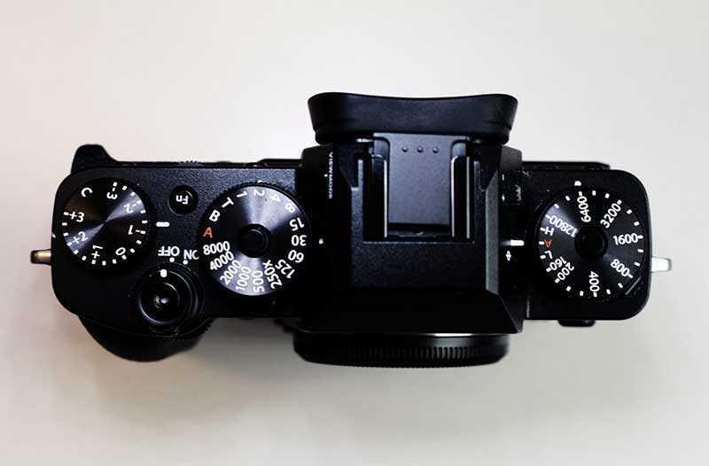 Fujifilm X-T3 сверху