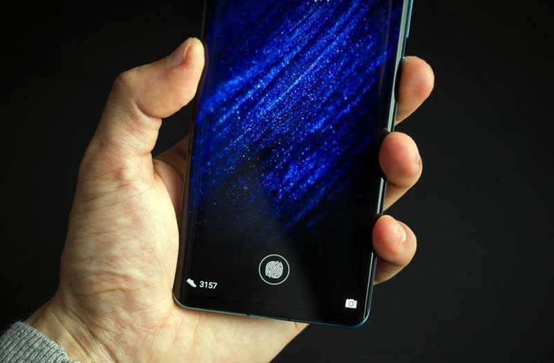 Huawei P30 Pro сканер отпечатка в экране