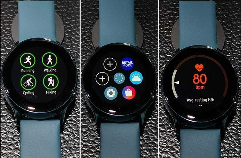 Samsung Galaxy Watch Active управление