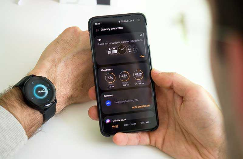 Samsung Galaxy Watch Active функции
