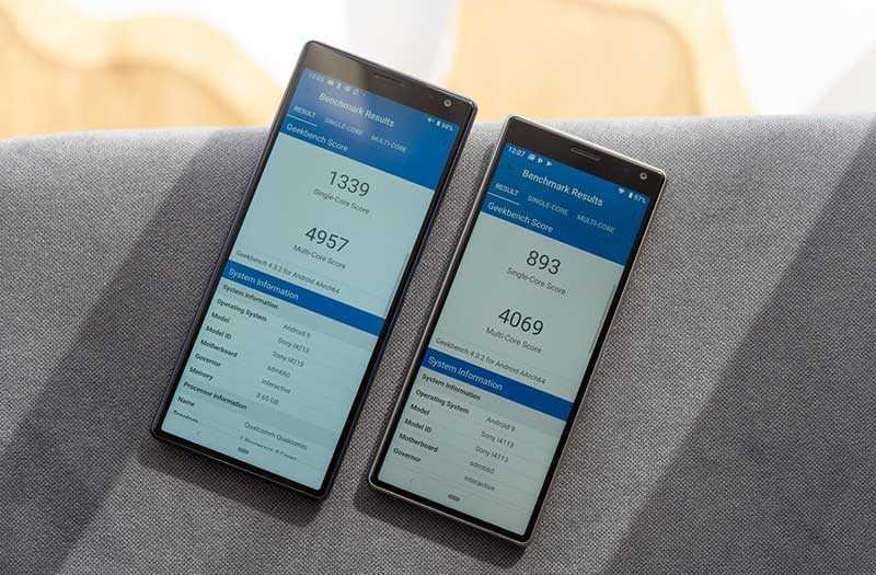 Sony Xperia 10 и Xperia 10 Plus производительность