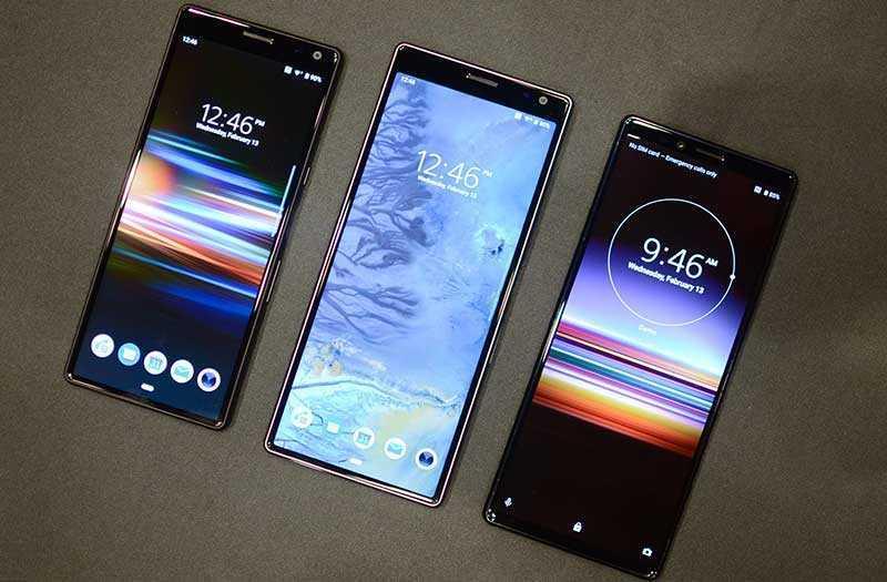 Sony Xperia 10 и Xperia 10 Plus экраны