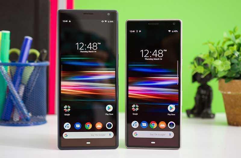 Sony Xperia 10 и Xperia 10 Plus экран