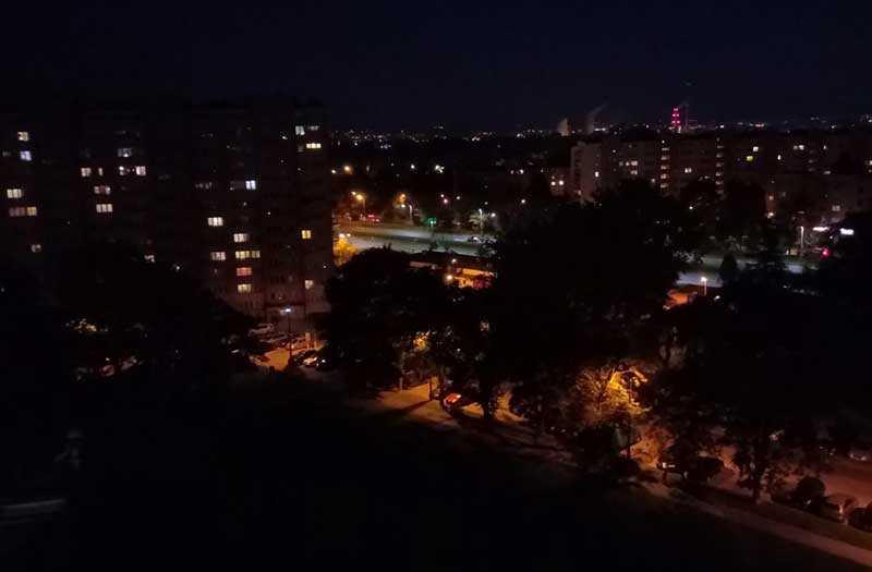 TP-Link Neffos X9 ночная съёмка