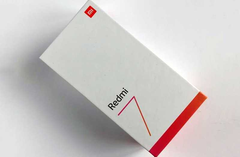 Xiaomi Redmi 7 из коробки